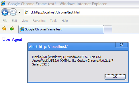 Google Chrome Frame Plugin For Internet Explorer